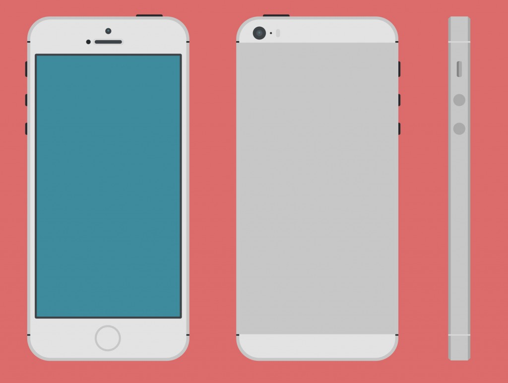 iPhone 5S PSD by Nabil Iphone 5 Template Vector