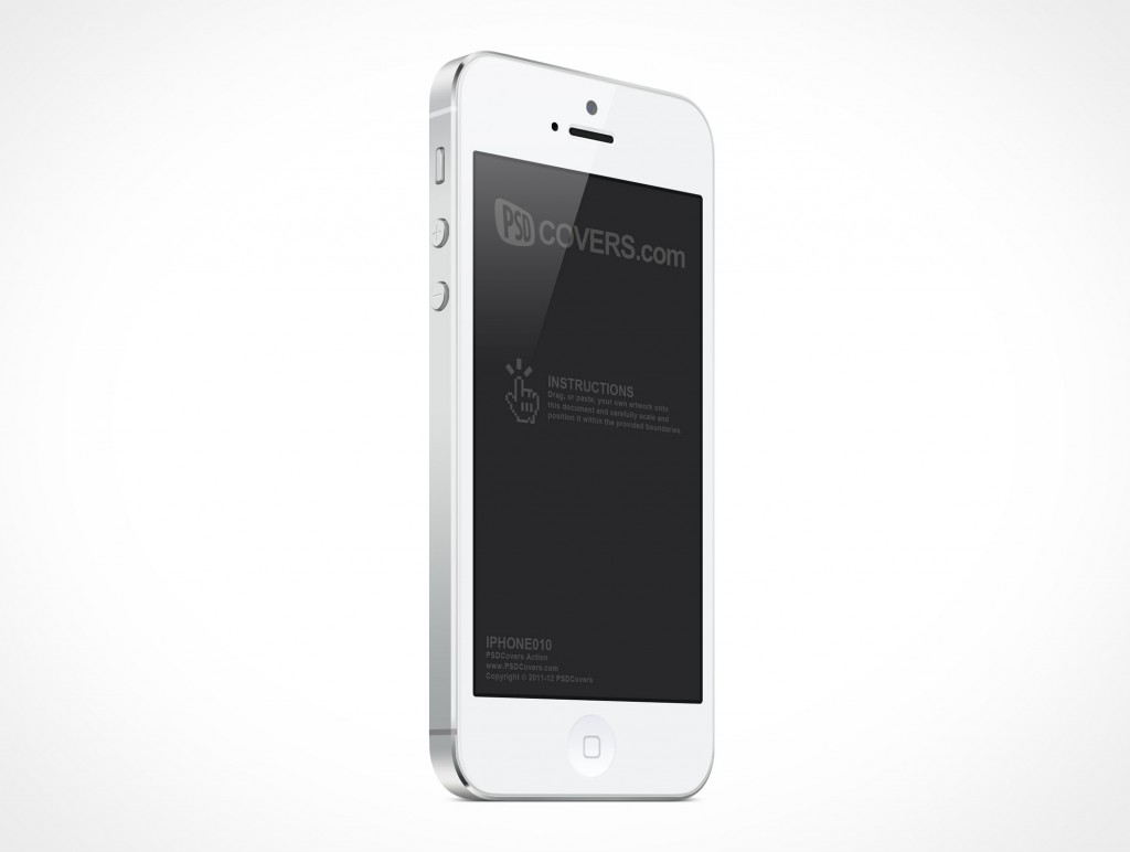 White iPhone 5 PSD Mockup by White Iphone 5 Psd
